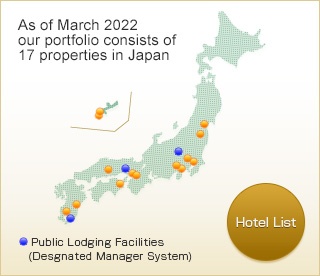 As of April, 2017 our portfolio consists of 23 properties in Japan